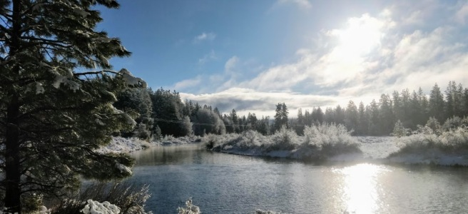 A beautiful and memorable Christmas Morning somewhere in Oregon.
